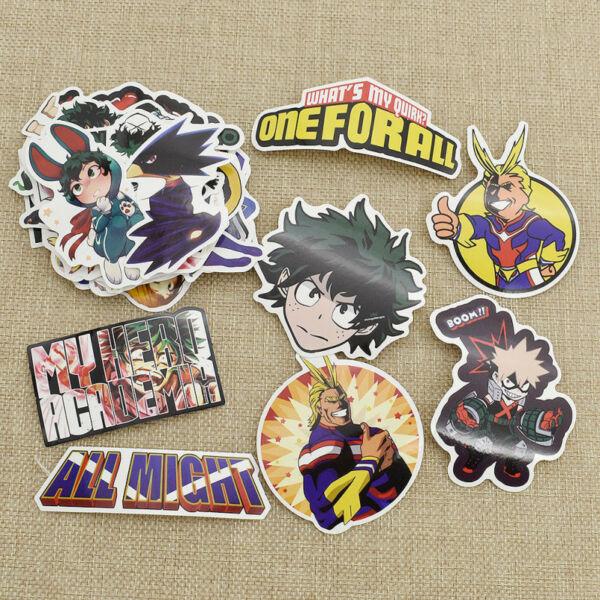 73pcs/pack My Hero Academia Boku No Hero Stickers Suitcase Skateboard Stickers