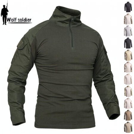 img-Army Mens Combat T-Shirts Tactical Military Long Sleeve Casual Shirts Camouflage