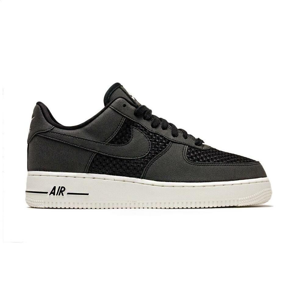 029e49998a70c3 Details about Mens NIKE AIR FORCE 1 LO Black Trainers AQ8624 001