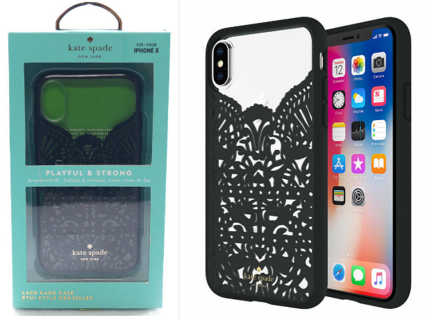 best loved 9c438 72958 Original Kate Spade New York Flexible Hardshell Case for iPhone X 10 Lace  Cage 695974419127 | eBay