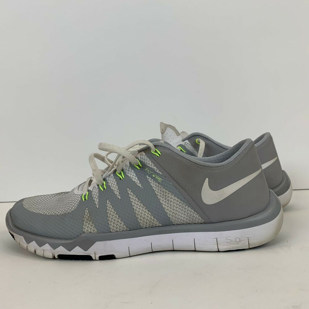 dee4275aa60 Details about Nike Mens 5.0 Flywire Free Trainer Shoes Size 10 Grey Neon  719922-100