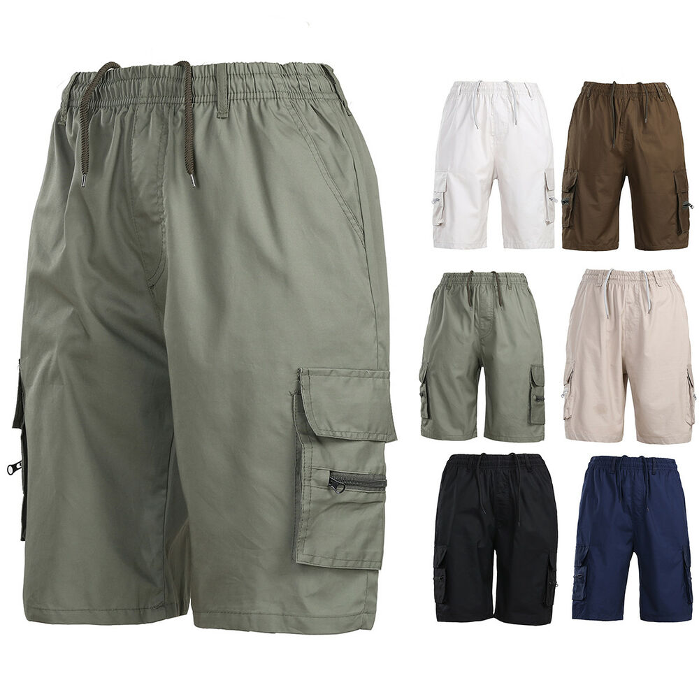 8253935eda Details about Men's Summer Shorts Sports Work Casual Army Combat Cargo  Shorts Pants Trousers