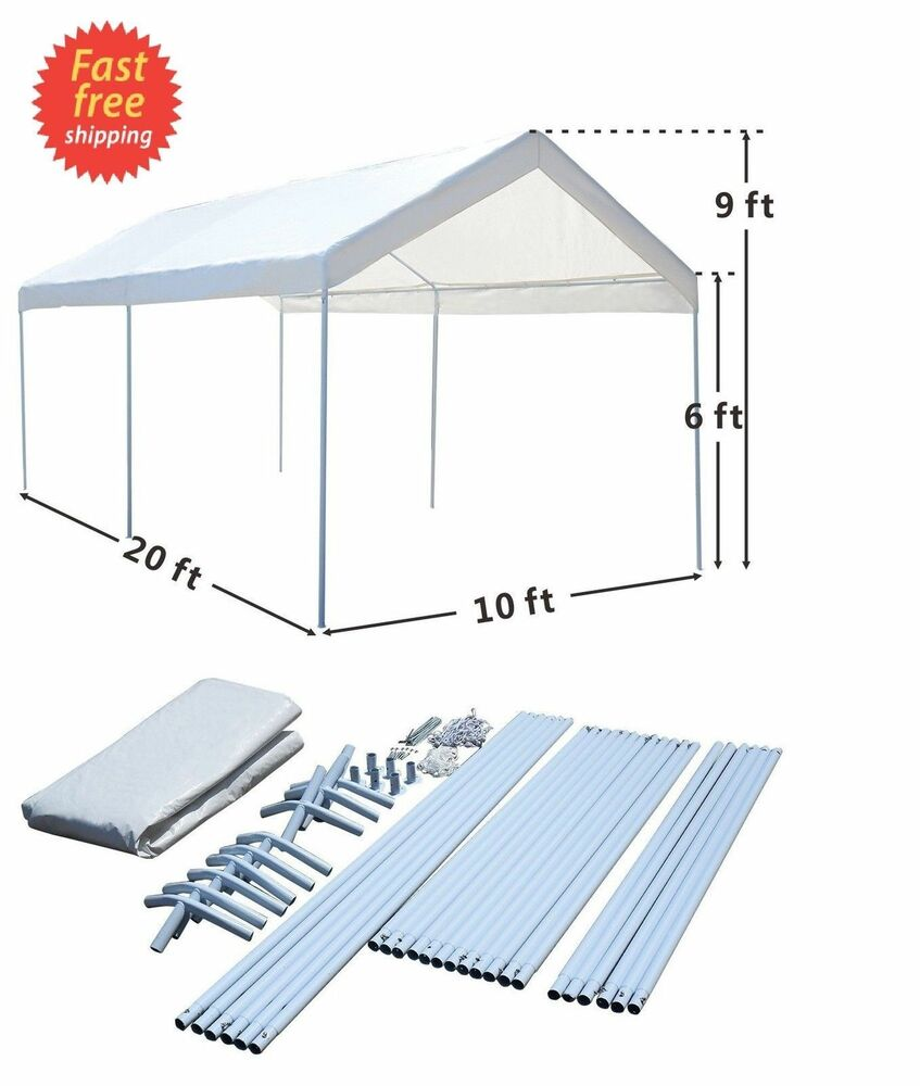 Steel Frame 10x20 Party Tent Canopy Portable Car Carport ...