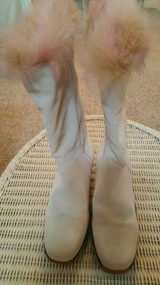 db4f1113dc03 Maxine Of Canada Ladies White Rimini Long Hair Boots Size 8.5 AquaTan  Waterproof