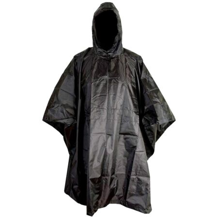 img-RIP-STOP WATERPROOF WINDPROOF PONCHO/BASHA black SAS military hooded coat jacket