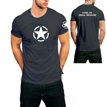 img-Airsoft Star US Army Fathers day Army Combat t-Shirt Gift for him Mens