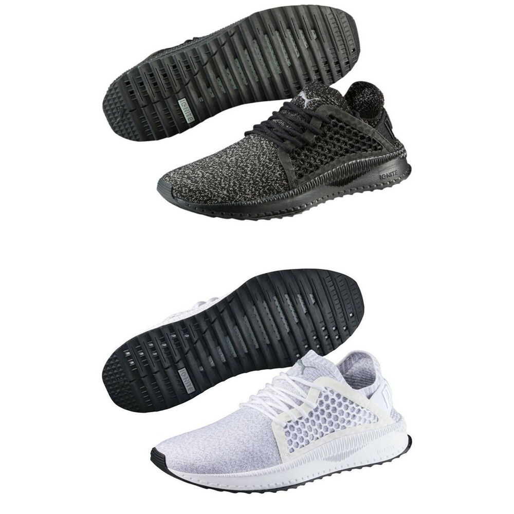 Details about Puma TSUGI Netfit Evoknit Mens Trainers Shinshei Cage Black  Olive White Shoes c8e0cae60