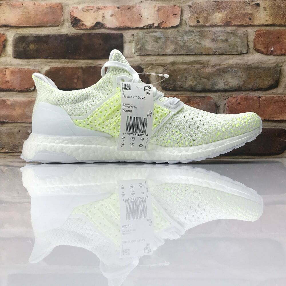 7b8c3429011a Details about Adidas Ultraboost Clima Mens Size 10 AQ0481 Cloud White Solar  Yellow Running