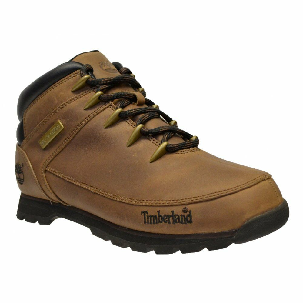6907389f24e7 Details about Timberland Men s Euro Sprint Hiker Leather Boots Shoes  Trainers - A11ZX - BROWN