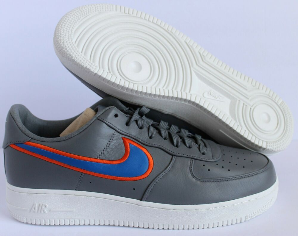 Details About NIKE AIR FORCE 1 LOW ID NBA Oklahoma City Thunder GRAY BLUE 115 AQ9768 991