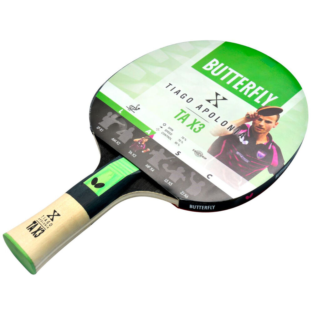 422d7209944 Details about Butterfly Tiago Apolonia TAX3 Table Tennis Bat