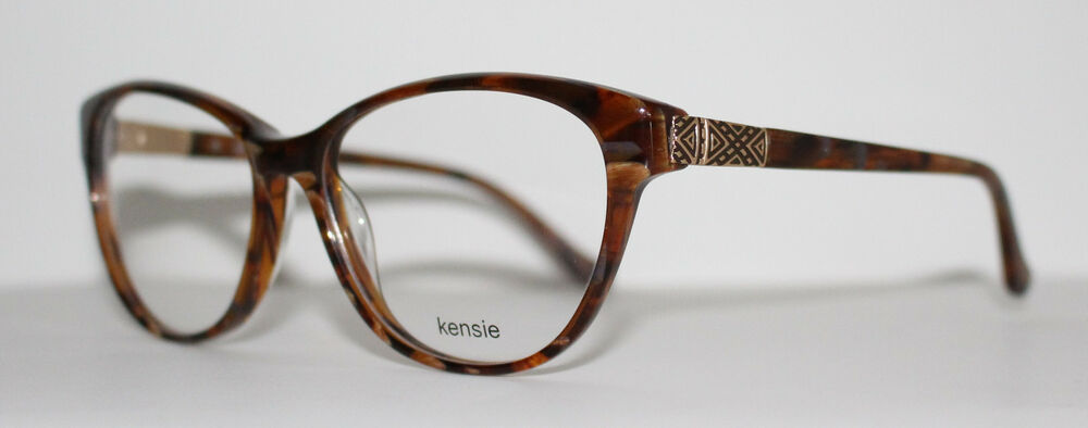 e393c9b5d0c2 Details about KENSIE EMOTION BROWN New Cats Eye Optical Eyeglass Frame For  Women