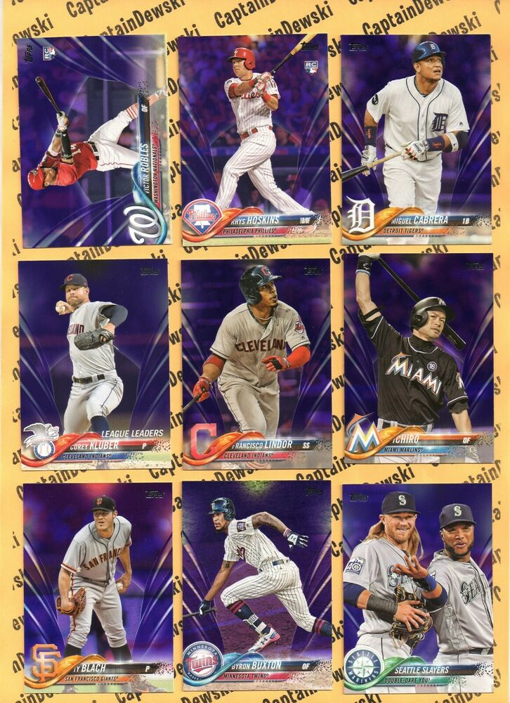 2018 Topps PURPLE SP Toys R Us / Meijer Paper Parallel Cards! U PICK
