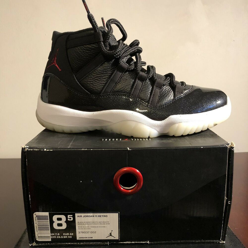 huge selection of 89661 6edb8 Details about USED NIKE AIR JORDAN 11 Retro 72-10 Black Gym Red-White- Anthracite Sz 8.5