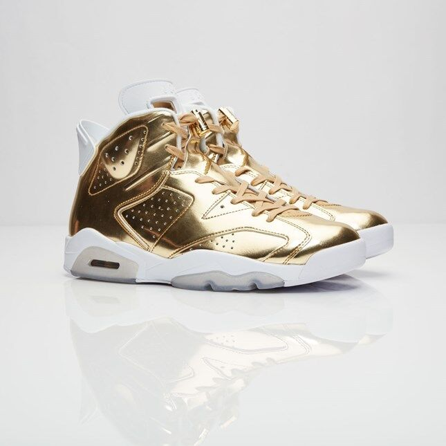 7e37c9bb393 Details about 2016 Nike Air Jordan 6 VI Retro Pinnacle Gold White size 12.  854271-730 1 2 3 4
