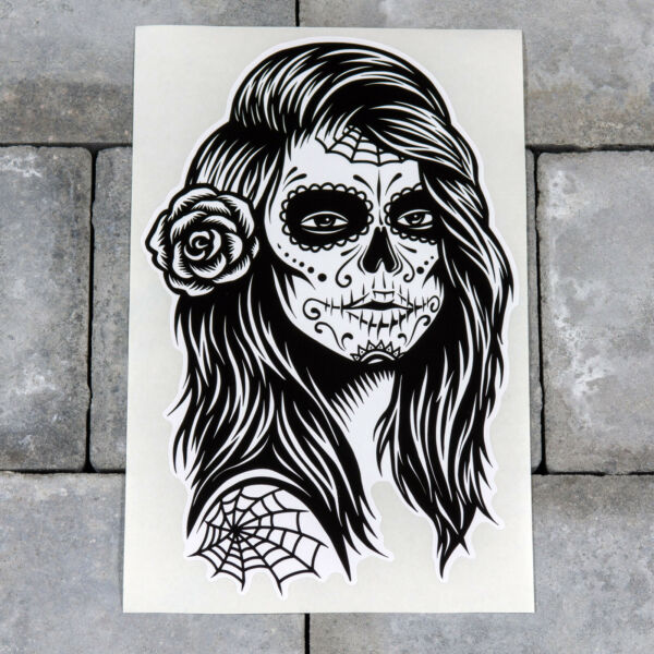Day Of The Dead Sticker - Girl - Calavera - Scrapbooking - iPad - MacBook - 5558