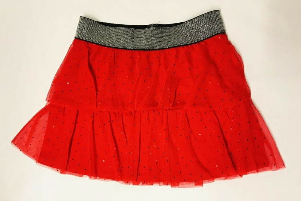 daa114e8301e Details about Candies Red Sparkle Tutu Sequin Skirt Girls Size 10 12  Christmas Holiday Party