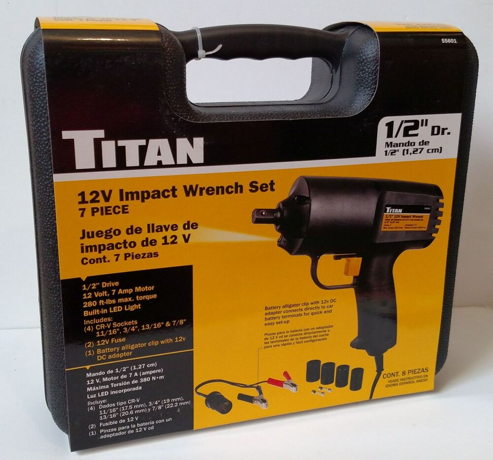 Details About An 55601 7 Piece 12v Electric Impact Wrench Set 1 2 Drive Free S H