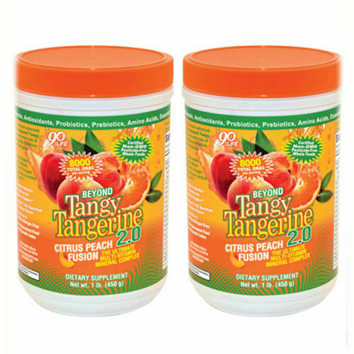 Youngevity Beyond Tangy Tangerine 2.0 Peach Fusion (2- 480g Canisters) - Limited