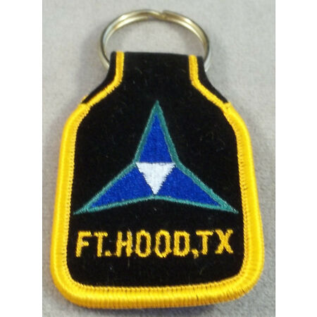 img-US Army 3rd - III Corps Fort Hood Texas Embroidered Keychain