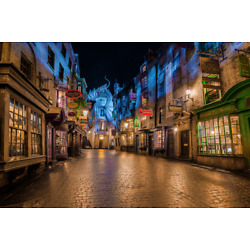 Harry Potter Castle Diagon Alley Wizard 3d View Window Wall Sticker Poster 651a