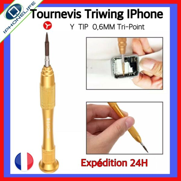 OUTIL TOURNEVIS AIMANTE TRIWING Y0.6 Y000 0.6 Y IPHONE 7 8 PLUS X 10 APPLE WATCH