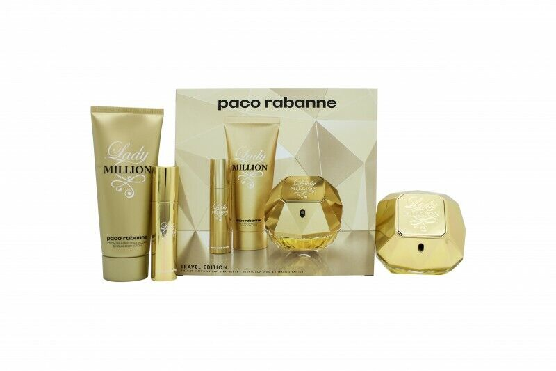 Details about PACO RABANNE LADY MILLION GIFT SET 80ML EDP + 10ML EDP + 100ML BODY LOTION. NEW