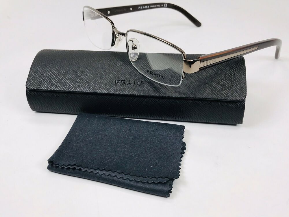 2dc35580d6f Details about ✳ New Prada VPR 69I 1BI-101 Brown Eyeglasses 50mm withCase (  Scratched Lens)