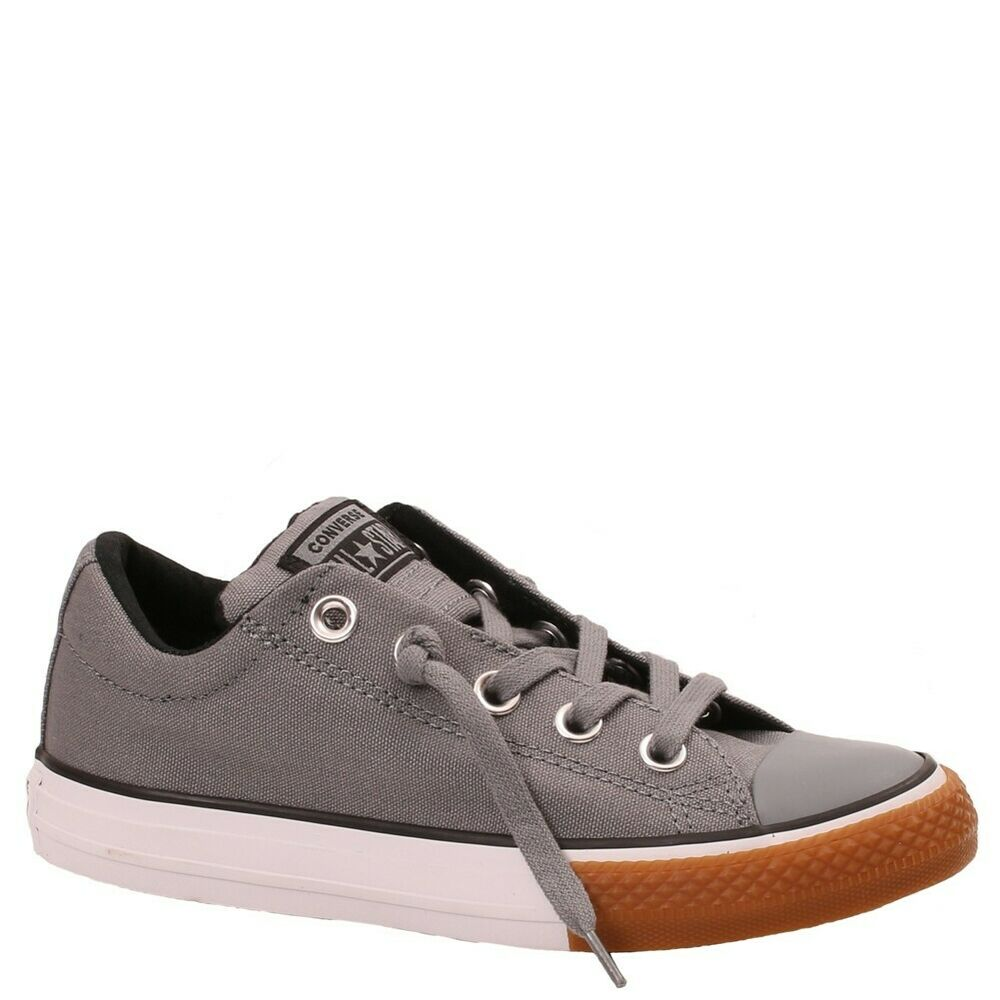 1d3ac15dc1a146 Details about Converse Low Top Street Slip Gray White Gum Like Slip On Kids  And Big Kids New