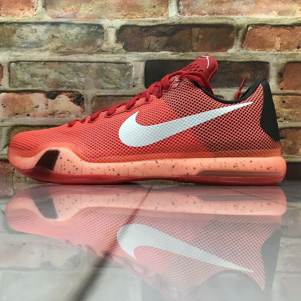 81b6b881c2f Details about Nike KOBE Bryant X 10 Majors Crimson Red Black Size 11 Men's Shoes  Deadstock