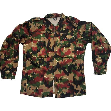 img-Genuine Swiss Army M83 Alpine Camo / Alpenflage Lightweight jacket - All Grades