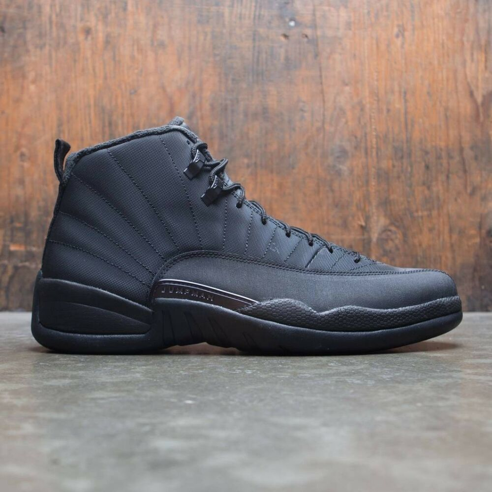 bc821846529a Details about 2018 Nike Air Jordan 12 XII Retro Triple Black Winterized  Size 12. BQ6851-001
