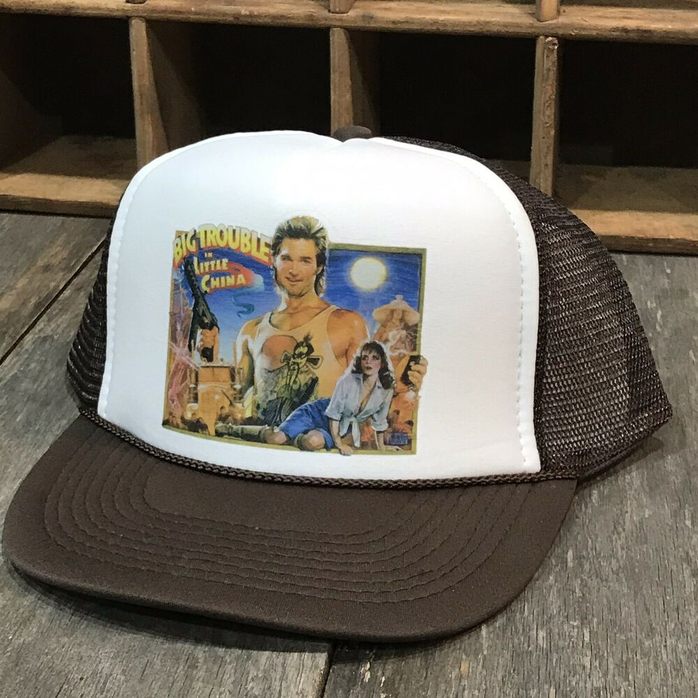 913105db56d Details about Big Trouble In Little China Trucker Hat Vintage 80 s Movie  Promo Snapback Cap BN
