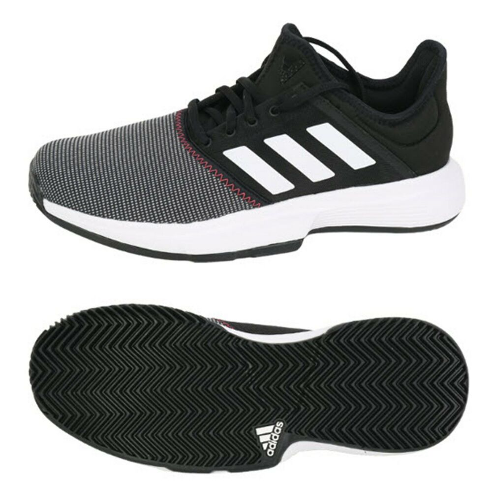 7badb86dc85d4 Details about Adidas Men Game Court Tennis Shoes Running Black Training Sneakers  Shoe CG6334