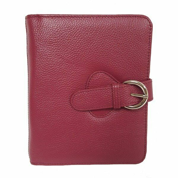 Franklin Covey Ava Leather Binder Compact Plum 6 Inches X