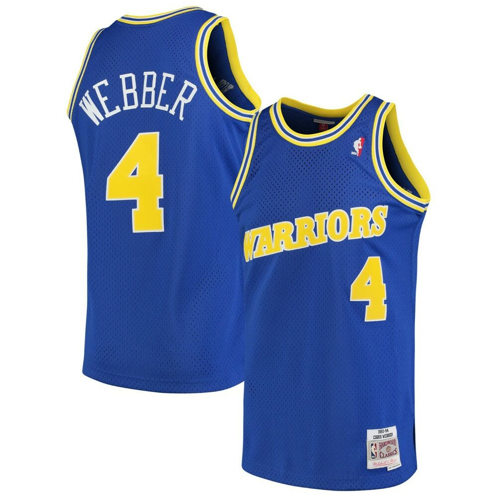 check out 31872 d6bc0 Details about Chris Webber Golden State Warriors Mitchell   Ness 1993-94  Swingman Jersey-Royal