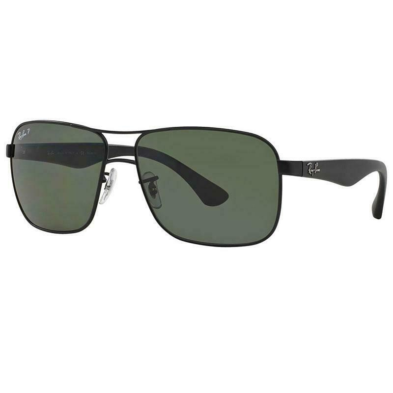 99fa532159d Details about Ray-Ban Sunglasses Black w Green Classic G-15 Polarized Lens  Unisex RB3516 006 9