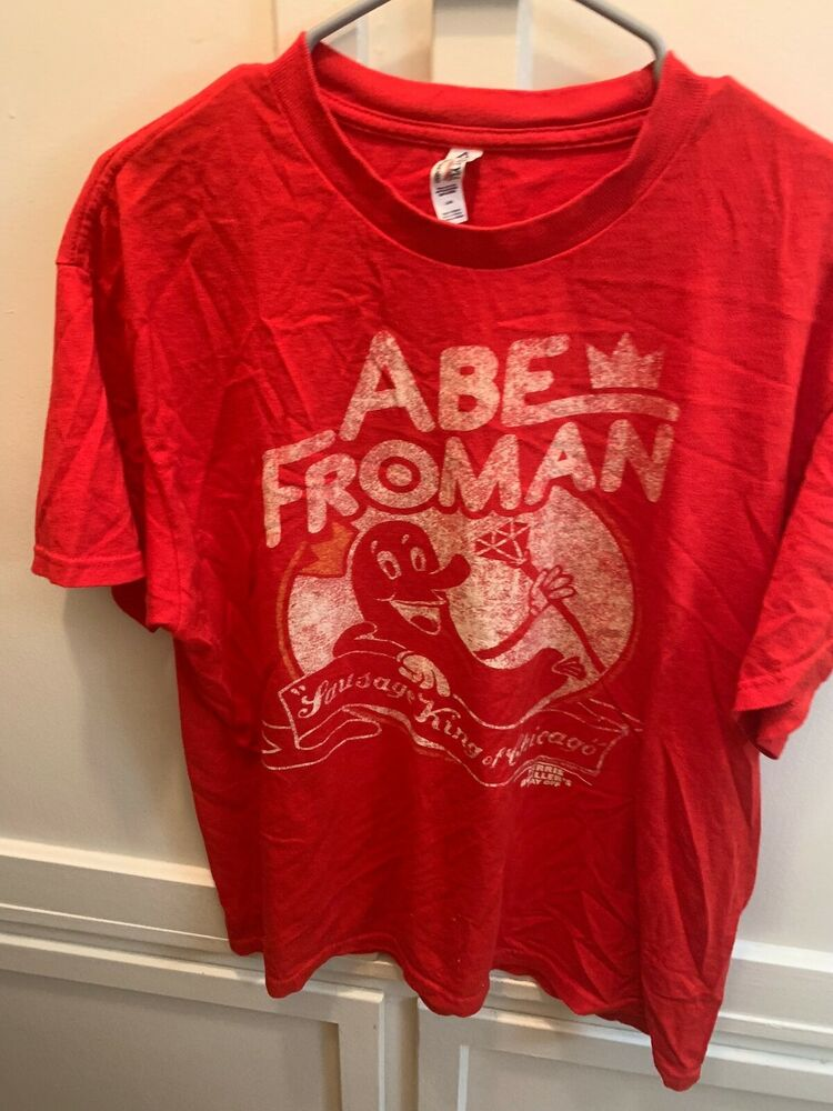 cde641266a5 Details about vintage ABE FROMAN SAUSAGE KING T Shirt Ferris Buellers Day  Off sz L