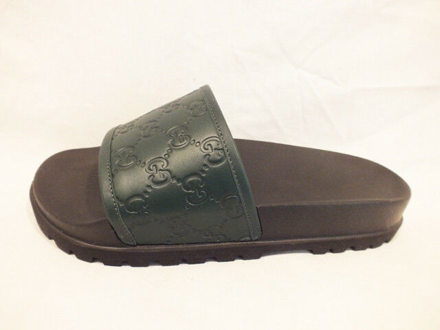 730e5d54039ae NIB AUTH GUCCI Men GUCCISSIMA Leather slides sandals FLIP-FLOP 7