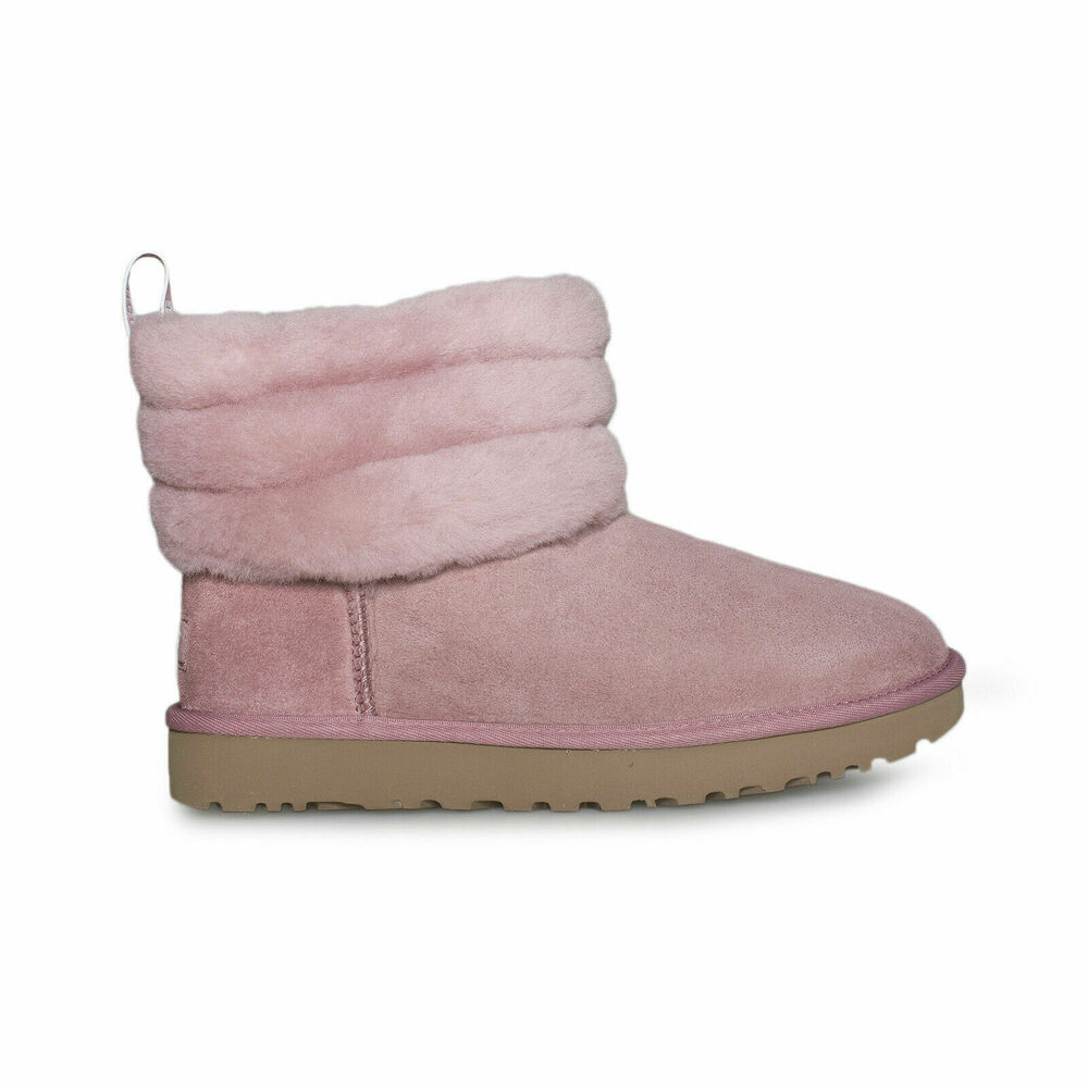 864c8c898080 Details about UGG FLUFF MINI QUILTED PINK DAWN SUEDE SHEEPSKIN WOMEN S BOOTS  SIZE US 8 NEW