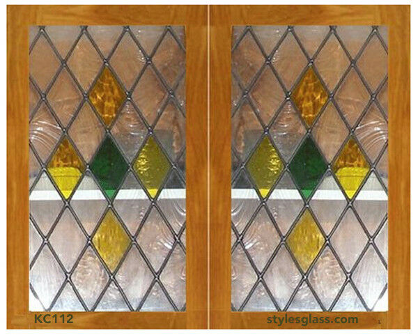 Ebay Stained Glass Panels.Spectacular Diamond Stained Glass Window Cabinet Inserts Ebay