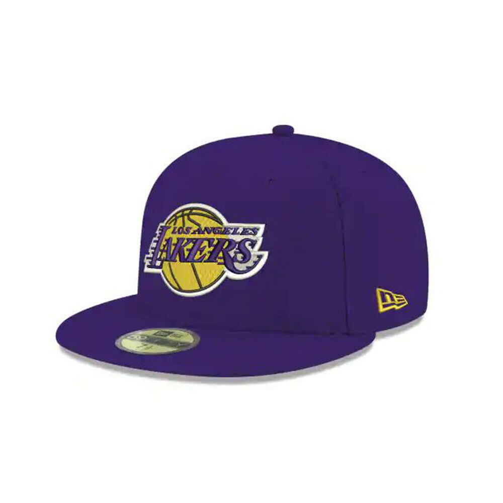 33b613805b3 Details about New Era Los Angeles Lakers Team Color 59Fifty Fitted Cap Hat  Purple 70343349
