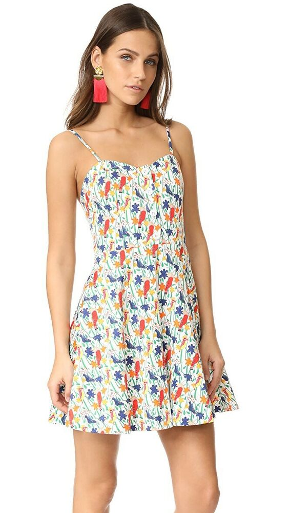 76bbf4d25c Details about Alice + Olivia Nella Button Front Dress Bird Size 6 NWT