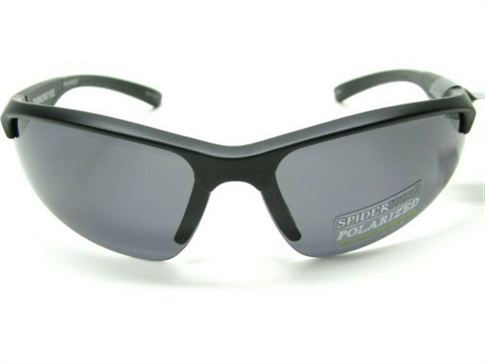 06bc28f38c Details about Spiderwire 1362713 Matte Black L   XL Terror Eyes Smoke Polarized  Sunglasses