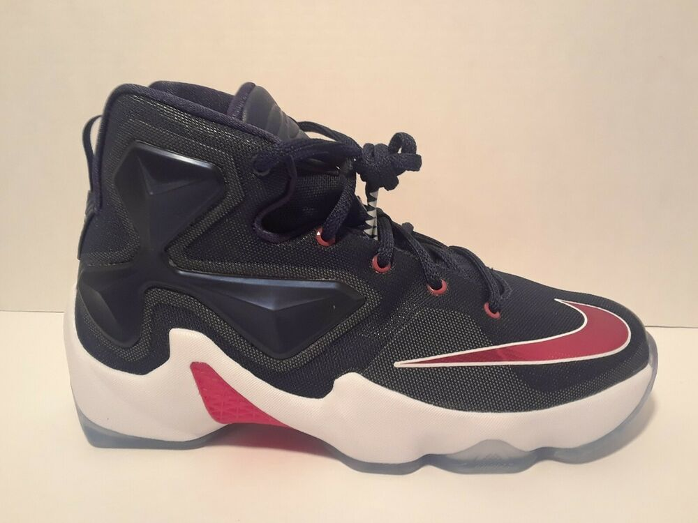 1a5e9747ea3 Details about Nike Lebron James 13 XIII Boys Youth GS Red White Black  Basketball Shoes