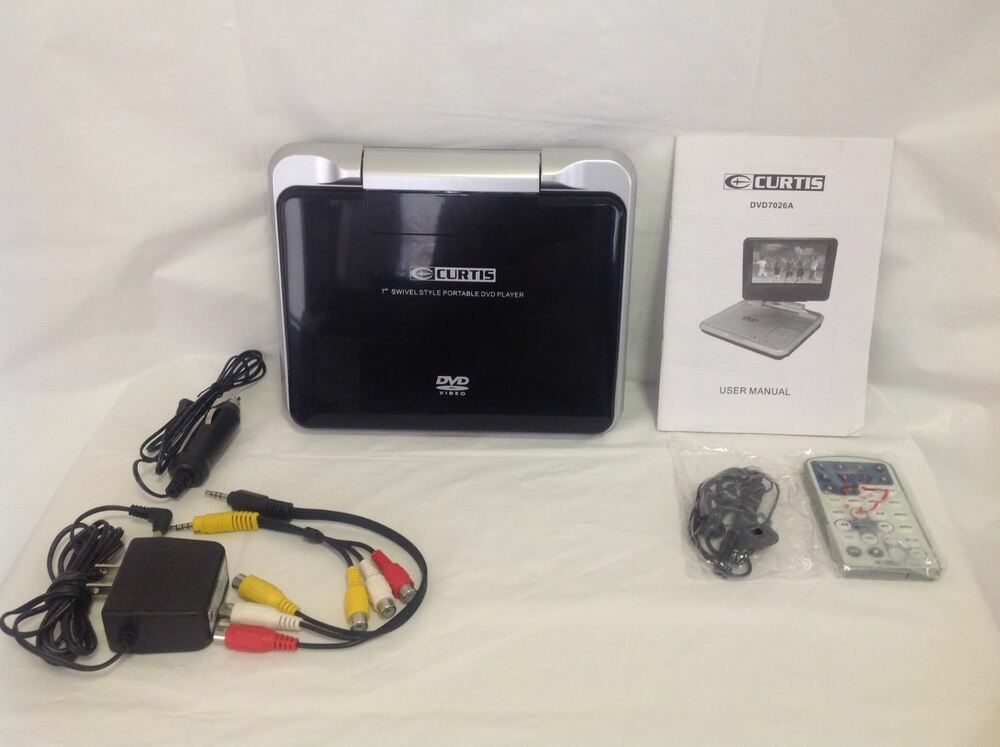 Details About Curtis Dvd7026a Portable Dvd Player 7 Incl Remote Car Wall Adapter Bundle