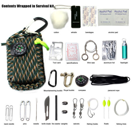img-24 in 1 SOS Emergency Tactical Survival Equipment Kit Outdoor Gear Tool Camping
