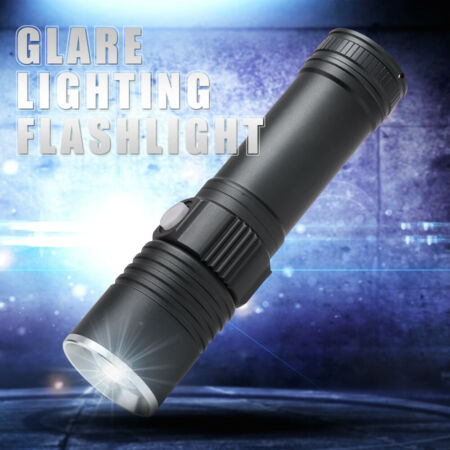 img-30000lm XM-L L2 LED Tactical Zoomable Flashlight USB Military Torch 18650/AA SET