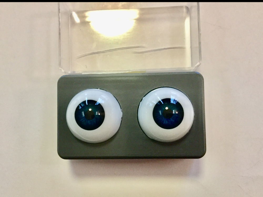 1 Pair Of New Packages Tallina/'s Acrylic Doll Eyes green 22MM New Old Stock