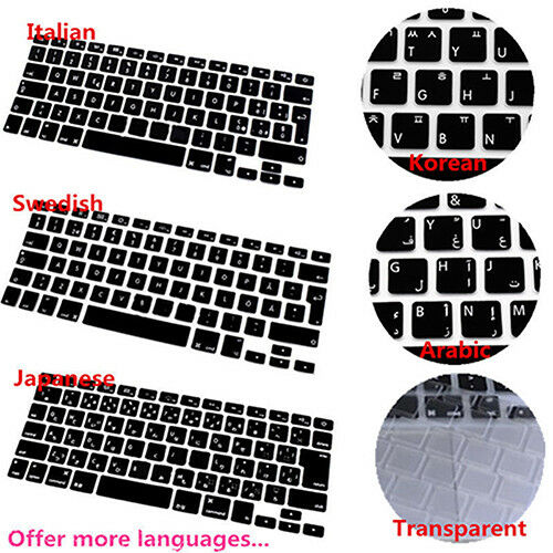 Multi language Silicone Keyboard Cover for MacBook Air Pro Retina 13 15 Welcome